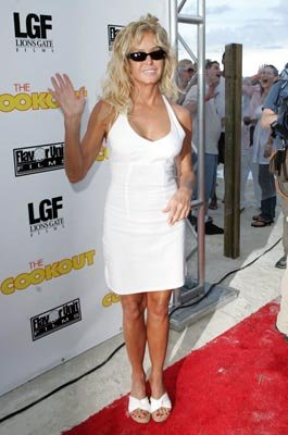 Farrah Fawcett at the Miami premiere of Lions Gate's The Cookout