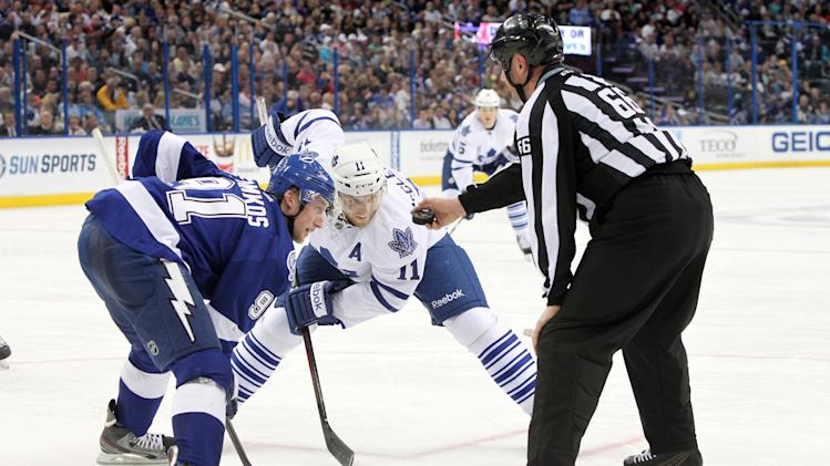 NHL: Toronto Maple Leafs at Tampa Bay Lightning