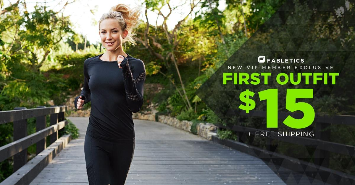 Get Your First Outfit For Only $15 From Fabletics