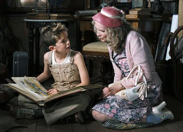 Freddie Highmore and Mia Farrow in The Weinstein Company's Arthur and the Invisibles