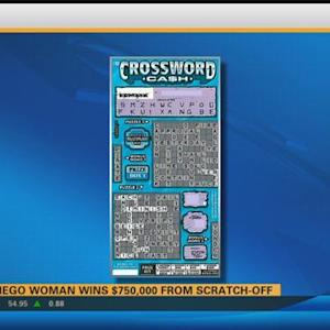 San Diego woman wins $750K from lottery scratch-off