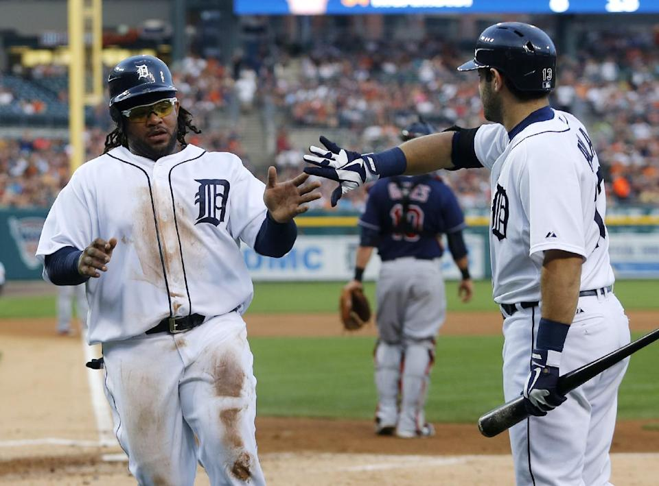 Cabrera exits early, Tigers top Indians in rain