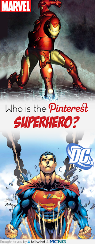 DC Versus Marvel – Who Is The Pinterest Superhero? image Pinterest Superhero