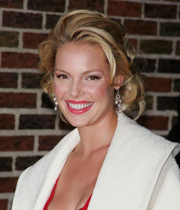 Katherine Heigl arrives at the &quot;The Late Show with David Letterman&quot;. 