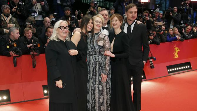 Actress and President of the international jury Streep arrives with other jury members for opening gala of 66th Berlinale International Film Festival in Berlin