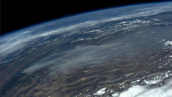 Astronaut Snaps Photo of Raging California Wildfire