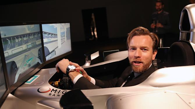 IMAGE DISTRIBUTED FOR IWC SCHAFFHAUSEN  -  Ewan McGregor attends the IWC Schaffhausen Race Night event during the Salon International de la Haute Horlogerie (SIHH) 2013 at Palexpo in Geneva, Switzerland on Jan. 22, 2013. (Chris Jackson/Photopress for IWC via AP Images)