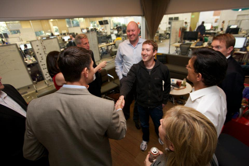 Paul Ryan Visited Facebook, Met Zuckerberg [PHOTOS]