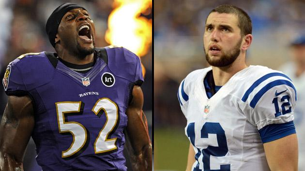 Ray Lewis and Andrew Luck