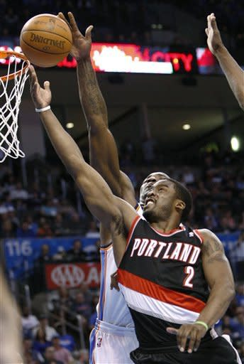 Thunder back on track at home, beat Blazers