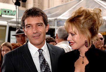 Premiere: Antonio Banderas and Melanie Griffith at the LA premiere of Columbia Pictures' The Legend of Zorro - 10/16/2005