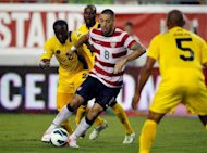 US forward Clint Dempsey (C) during the World Cup qualifying match against Antigua on June 8. Dempsey said his confidence was boosted by scoring against Antigua and Barbuda and he knows Guatemala will be a tougher rival