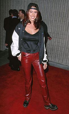 Shannon Elizabeth , star of American Pie , at the premiere for Dimension's Scream 3