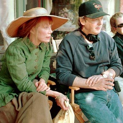 Sissy Spacek and director Jay Russell on the set of Disney's Tuck Everlasting