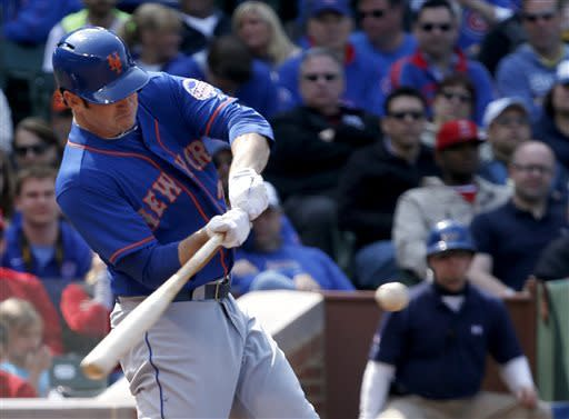 Harvey improves to 5-0, leads Mets over Cubs 3-2