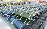 "<p>Hundreds of camp beds stand at the ""Franz-Josef-Strauss"" airport in Munich, southern Germany. A 24-hour strike called by Lufthansa cabin crew at German airports got underway Friday, the company said, the latest in a series of stoppages in a dispute over pay and conditions.</p>"