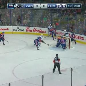 Ben Scrivens Save on Henrik Sedin (18:01/1st)