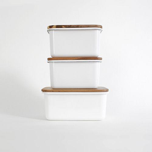 Enamel Storage Boxes