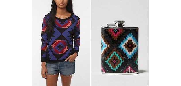 (Two of the items from Urban Outfitters' 'Navajo' collection.)