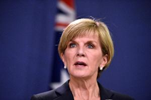 Australia's Foreign Minister Julie Bishop speaks …