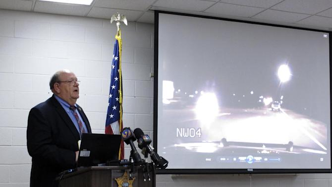 York County Sheriff Bruce Bryant speaks during a news conference on Wednesday, March 12, 2014, in York, S.C., about a shooting of a 70-year-old man by one of his deputies. Bryant said he thinks his officer did the right thing because the man's cane could have been mistaken for a gun. (AP Photo/Jeffrey Collins)