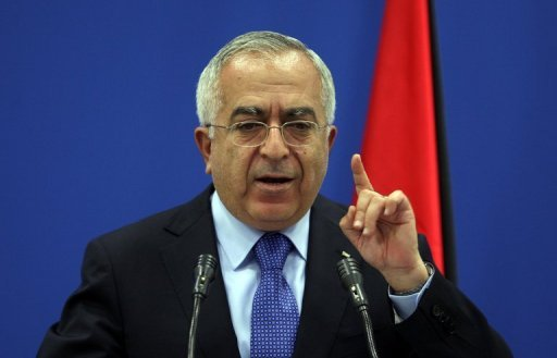 Palestinian prime minister Salam Fayyad, seen here in 2011, has hailed an emergency $100 million donation received from Saudi Arabia after Palestinian president Mahmud Abbas visited the kingdom last week.