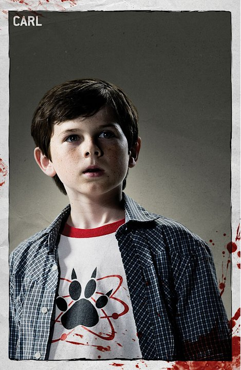 "Chandler Riggs stars as Carl Grimes in ""The Walking Dead."""