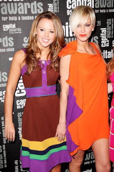 Kimberly Walsh dan Sarah Harding dari Girls Aloud