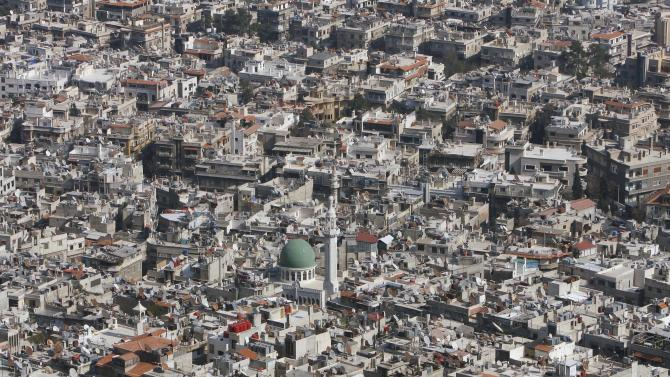 A general view of Damascus, Syria, Thursday, March 22, 2012. Mounting international condemnation of Bashar Assad's regime and high-level diplomacy have failed to ease the year-old Syria conflict, which the U.N. says has killed more than 8,000 people. (AP Photo/Muzaffar Salman)