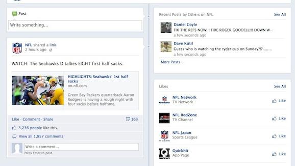 On Facebook, NFL Can't Decide What to Do About Controversial Ending