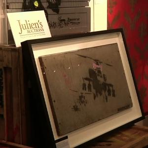 Gas Station Banksy Art at Beverly Hills Auction