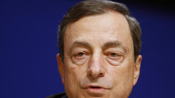 The Governor of the Bank of Italy Mario Draghi speaks during a news conference at the French Finance ministry, following the Financial Stability Board (FSB) Meeting in Paris, Monday, July 18, 2011. The FSB headed by Mario Draghi has been established to coordinate at the international level the work of national financial authorities. (AP Photo/Remy de la Mauviniere)
