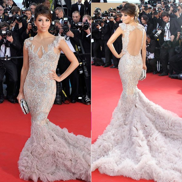 Eva Longoria Goes Backless In A Gorgeous Gown At Cannes Film Festival