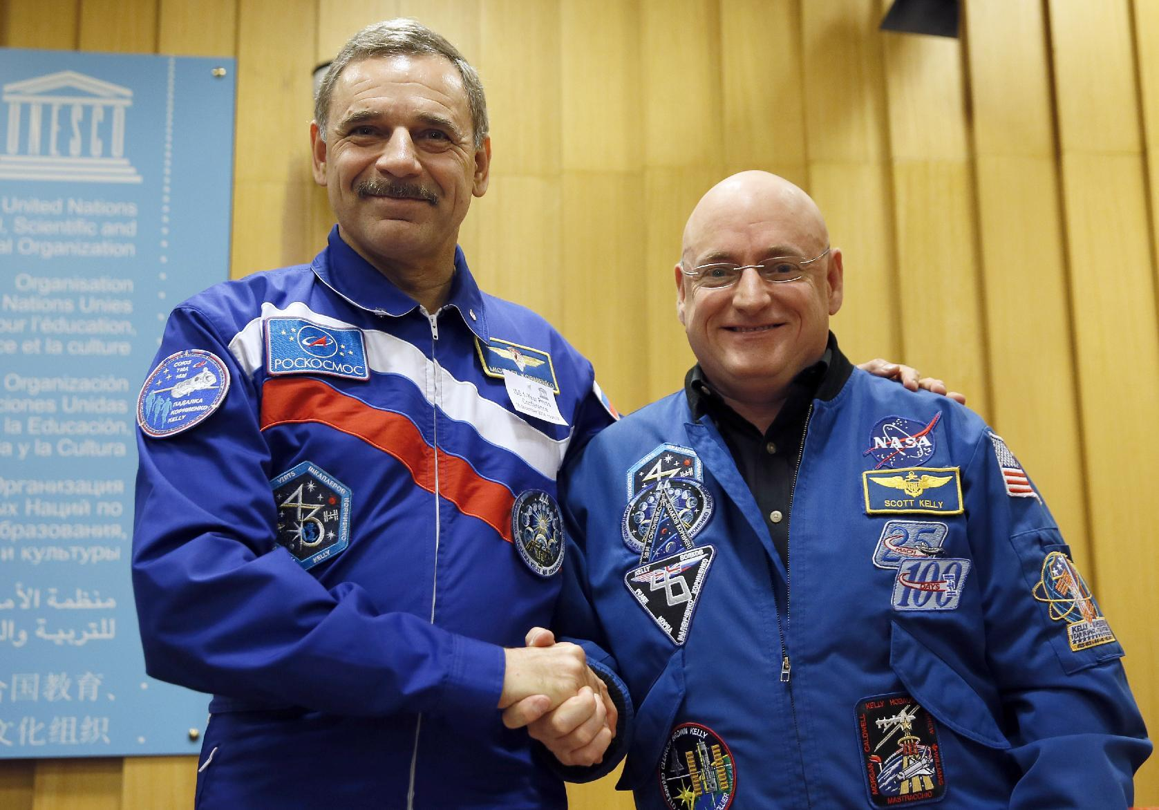 Politics no problem, say US and Russian spacefarers