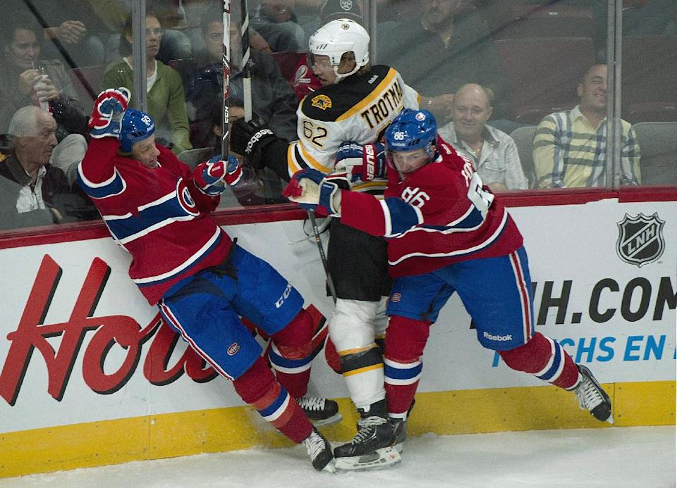 Iginla scores 2 goals, Bruins top Canadiens 6-3