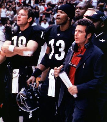 Dennis Quaid , Jamie Foxx and Al Pacino in Warner Brothers' Any Given Sunday