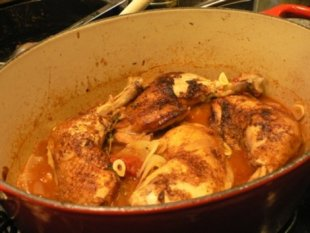 Tomato braised chicken