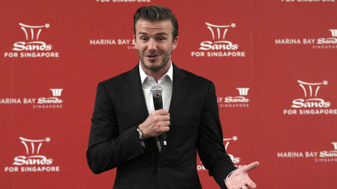 Soccer star Beckham will promote casinos in China