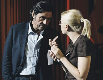 Ian McShane and Scarlett Johansson star in Focus Features' Scoop