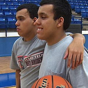 Autistic twins win big on basketball court hours after losing father