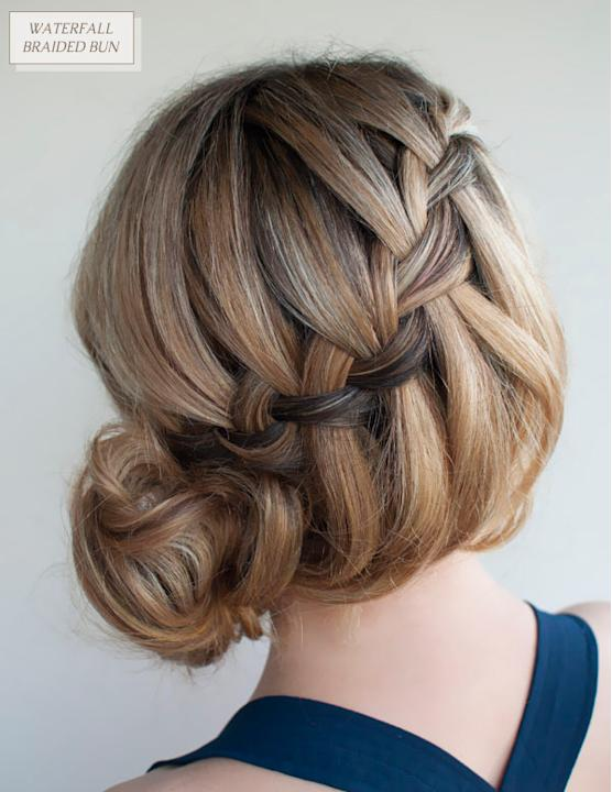 Waterfall Braided Bun