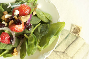 Strawberry summer salad for the fourth of july (vegan and vegetarian recipes)