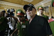 Gary Glitter, em foto de junho de 2006, durante o seu julgamento por pedofilia no Vietn