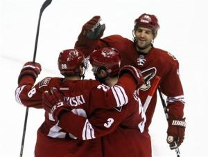 Sullivan scores tying goal and in SO for Coyotes