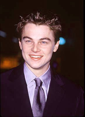 Leonardo DiCaprio at the premiere of Paramount's Titanic