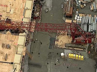 Raw: Injuries in Queens Crane Collapse