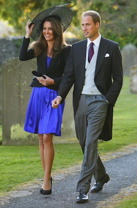 Prince William wearing his morning coat to a wedding