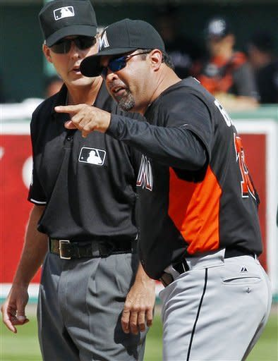 Marlins manager Ozzie Guillen ejected vs Red Sox