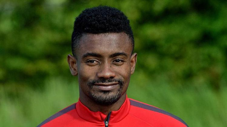 Lille's Ivorian forward Salomon Kalou is pictured during a training session on August 19, 2014 in Camphin-en-Pevele, outside Lille