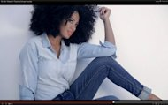 "A shot of Solange Knowles in the ""Mix Well. Madewell"" video"
